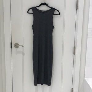 Express charcoal bodycon dress